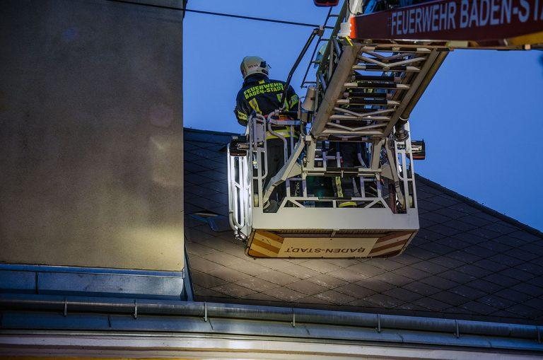 20170113 Sturmschaden Baden  Foto: FF Baden-Stadt / Roman Van de