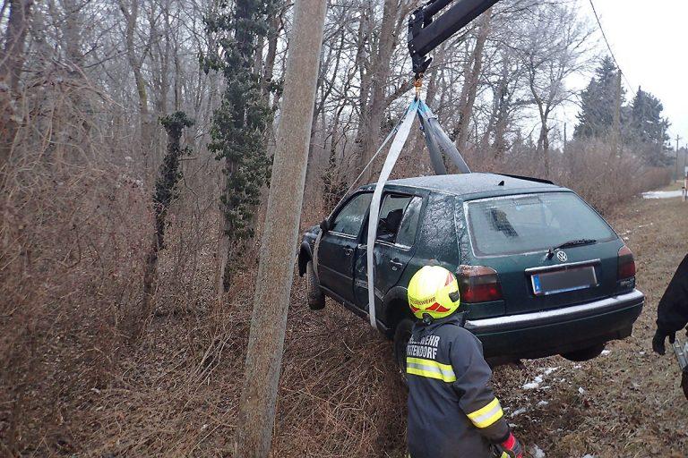 20170131 Verkehrsunfall L154 Tattendorf-Oberwaltersdorf NÖ Bezi