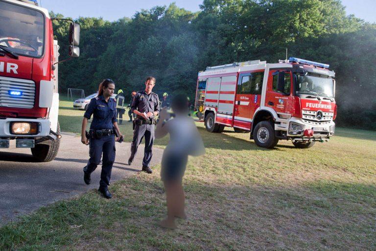20170619 Brand von Strohballen im Schlosspark Tribuswinkel Foto