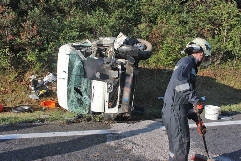 20170721 Verkehrsunfall A21 bei Heiligenkreuz RFb Wien Foto: FF