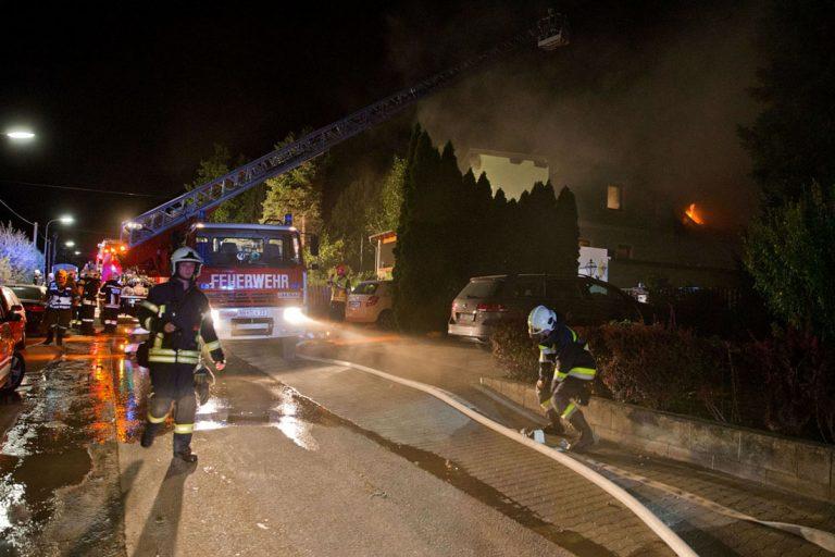 20170915 Wohnhausbrand in Gainfarn Stadtgemeinde Bad Vöslau Fo
