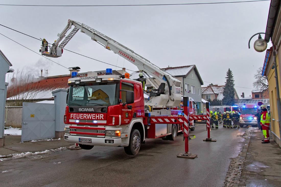 20180208 Dachstuhlbrand Wienersdorf Hauptstraße Foto: Stefan S