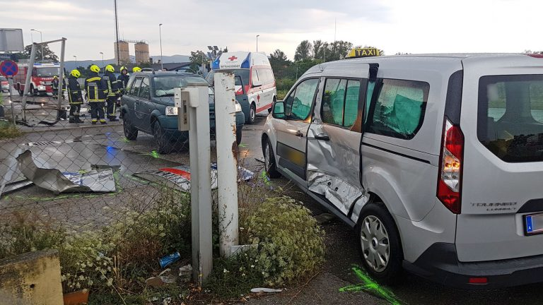 20180706 Verkehrsunfall IZ Tribuswinkel Foto: Stefan Schneider