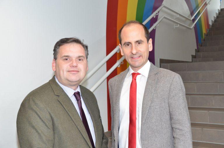 Mitterndorf: Bürgermeister Thomas Jechne mit Martin Ribnicsek (beide SPÖ)