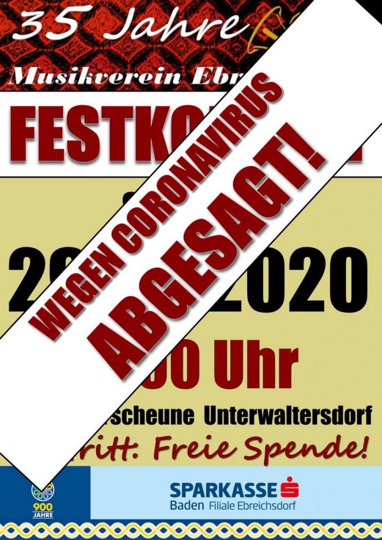 Musikerfest wurde abgesagt!