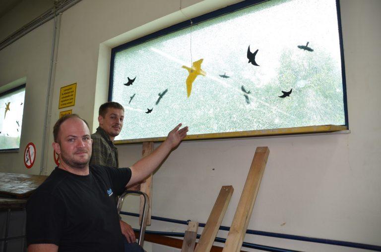 Kommandant Christian Horn mit Benjamin Guttmann