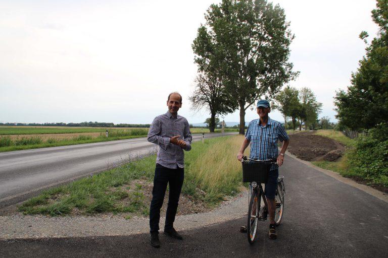 Bürgermeister Thomas Jechne (Mitterndorf) mit Bürgermeister Josef Sam (Reisenberg)