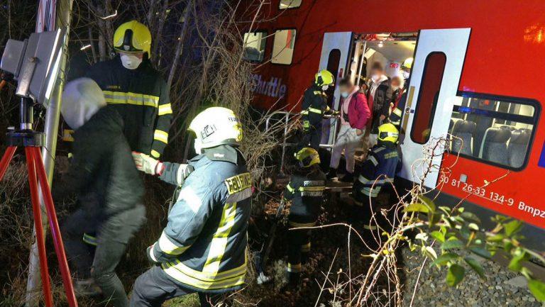 20201205 Unfall auf der Südbahnstrecke bei Kottingbrunn Nö Bez