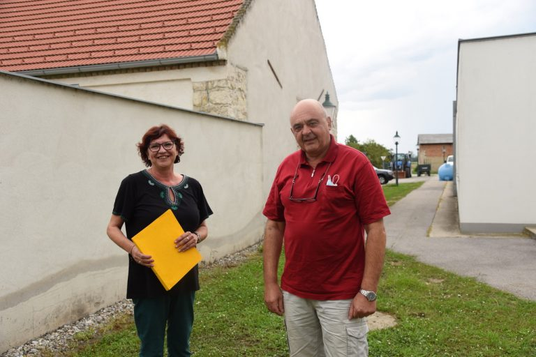 Bürgermeisterin Christine Sollinger und Vizebürgermeister Franz Püreschitz sen.