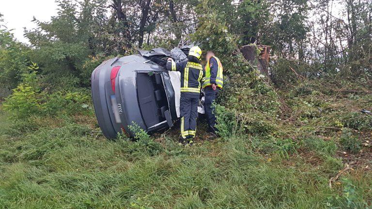 20210918 Verkehrsunfall auf der A2 zwischen Leobersdorf und Wöl