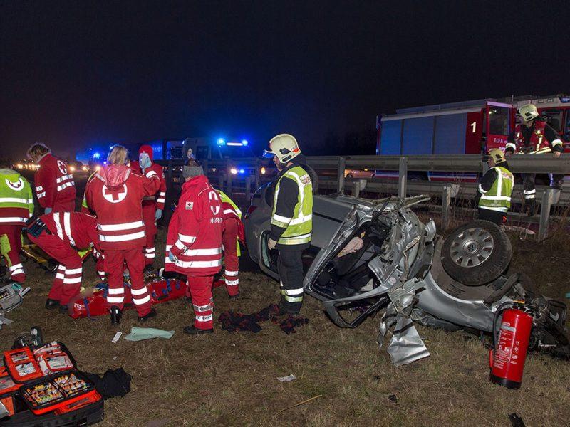 20161222 Verkehrsunfall A2 Rfb Wien bei Guntramsdorf Foto: Ste