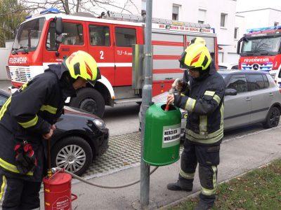 20181118 3-fache Brandstiftung in Tribuswinkler Wohnsiedlung Fo