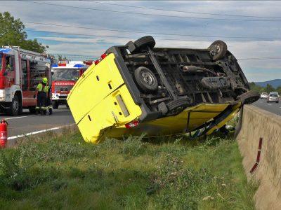 20201009 Verkehrsunfall auf der A2 zwischen Leobersdorf und Wöl